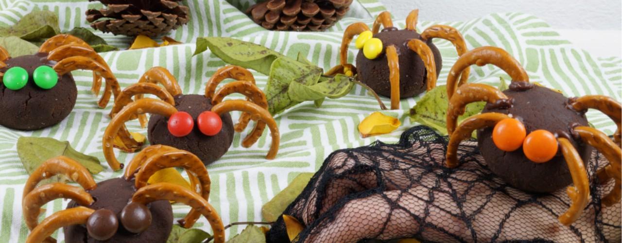 schokoladige Cake-Pop Halloween – Spinnen