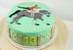 Pferdetorte zum Geburtstag Fondanttorte
