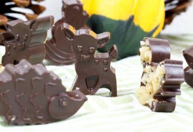 herbstliches Schokoladenkonfekt