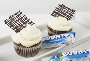 schokoladige Bounty Cupcakes