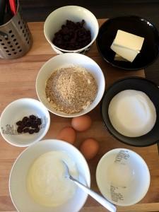 Zutaten Cranberrymuffins