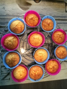 Apfel - Marzipan - Muffins mit Ostertopping