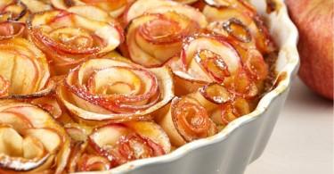 Rosenkuchen / Vanilletarte mit Apfelrosen