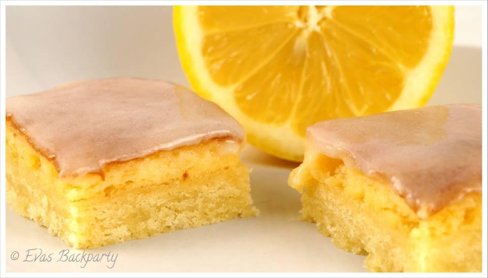 Brownie mit Zitrone
