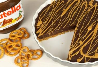 Nutellatarte für Schokoladenliebhaber backen - mit viel Nutella