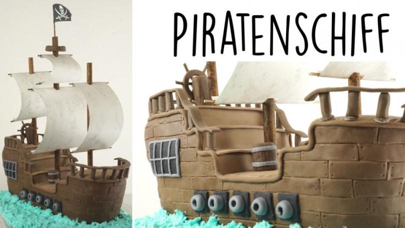 Backen ein Piratenschiff Fondanttorte