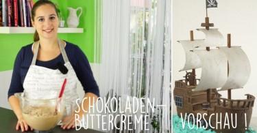 Buttercreme mit Schokolade für Fondanttorten