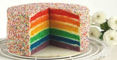 Regenbogentorte / Rainbow cake