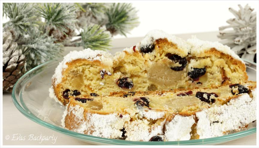 Christstollen mit Cranberries