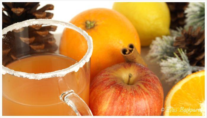 Fruchtpunsch mit Bratapfel