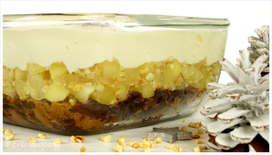 Lebkuchentiramisu mit Apfel und Vanillecreme