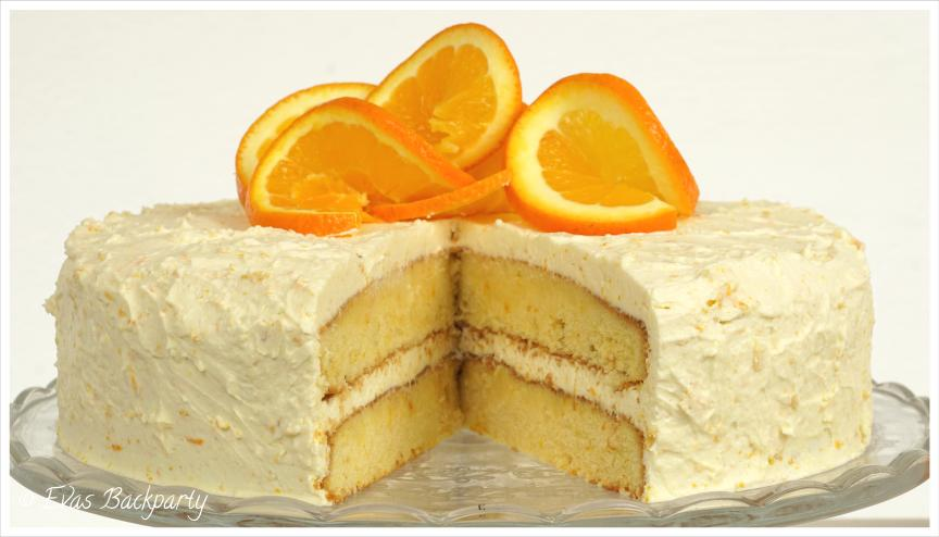 Orangentorte mit Vanille