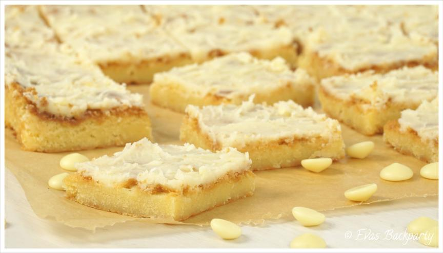 white chocolate Brownies mit Vanille