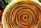 Gemüsetarte mit bunter Spirale