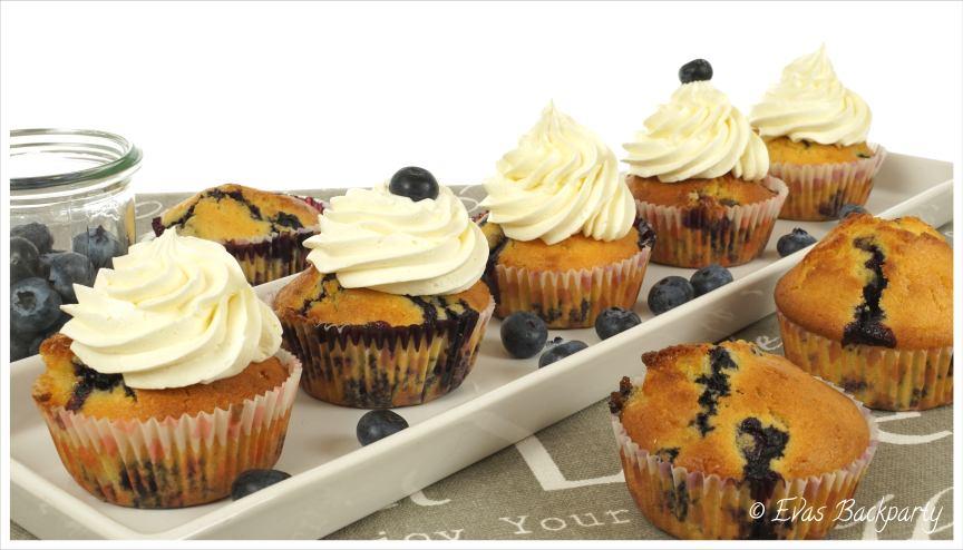 Blaubeermuffin, Blaubeercupcake mit Orangennote