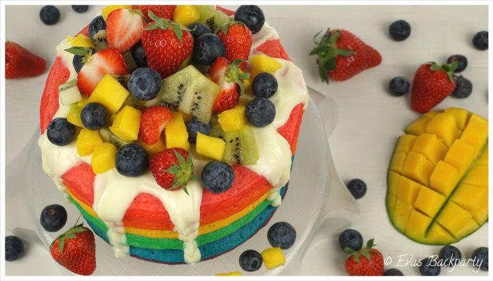 Regenbogen-Pancake-Torte, Pancake-Torte