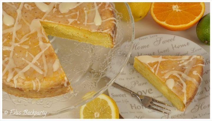 Zitruskuchen, Zitronenkuchen, Orangenkuchen