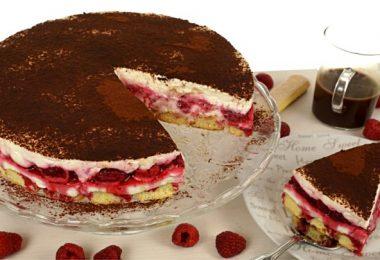 Himbeer-Tiramisu-Torte, Tiramisutorte mit Himbeeren