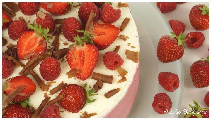 Himbeer-Erdbeer-Torte, Himbeertorte, Erdbeertorte