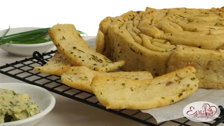 Zupf-Brot, Kräuter-Butter-Brot, Hefeteig-Brot