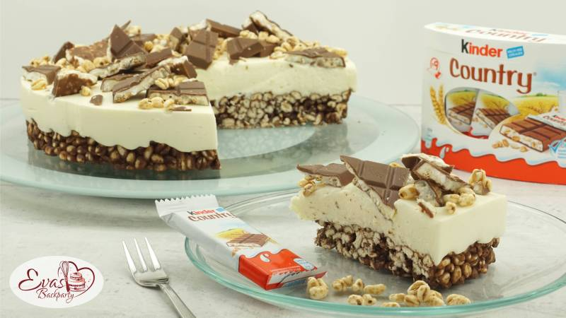 Kinder Country Torte Knusprig Cremig Evasbackparty