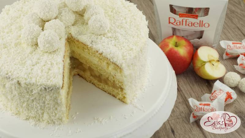Raffaello-Torte mit Apfel