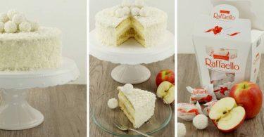 Raffaelo-Torte mit Apfel-Kompott