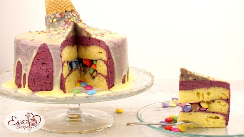 Eis-Torte-mit-Smarties-Überraschung