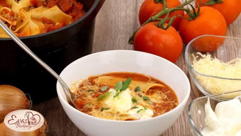 lasagne suppe schnelles gericht f r den herbst evasbackparty. Black Bedroom Furniture Sets. Home Design Ideas