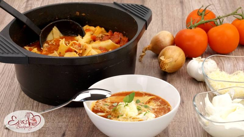 Lasagne-Suppe, die Alternative zum Klassiker