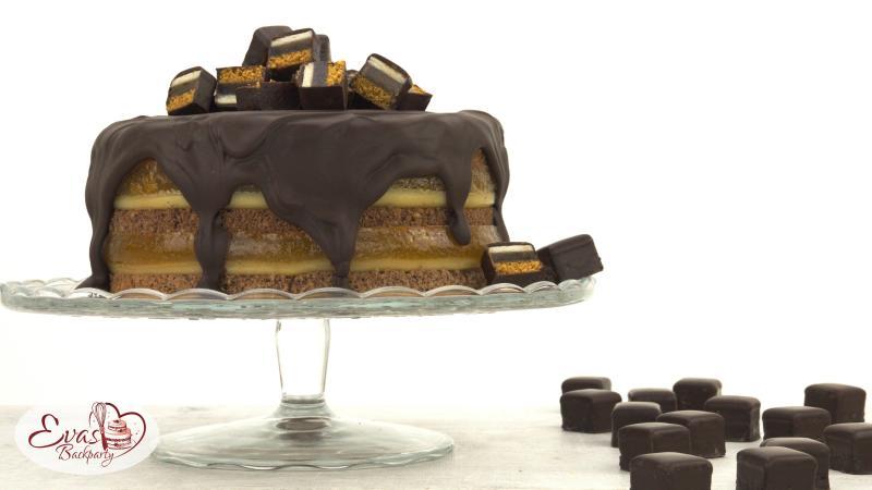 Dominostein-Torte zu Weihnachten