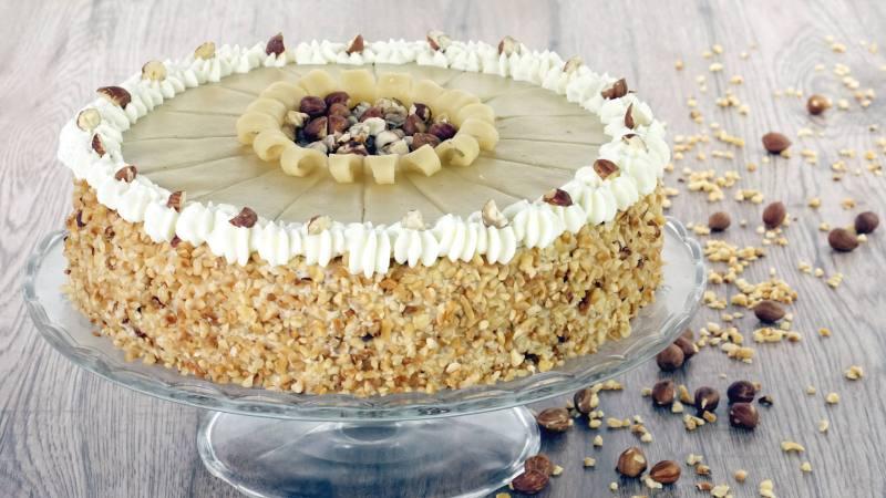 Haselnuss Marzipan Torte Zum Weihnachtsfest Evasbackparty