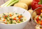 Kartoffel-Suppe mit Gemüse-Einlage