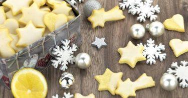 Zitronen-Plätzchen zu Weihnachten